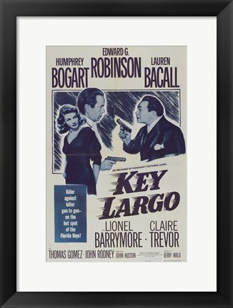 Framed Key Largo Blue Print