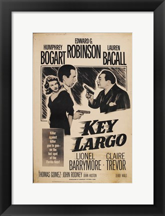 Framed Key Largo Sepia Print