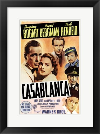 Framed Casablanca Cast Print