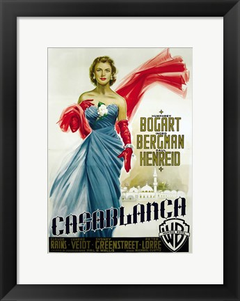 Framed Casablanca Blue Dress Print