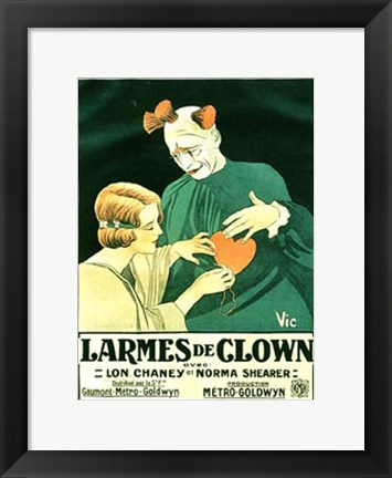 Framed He Who Gets Slapped French Print