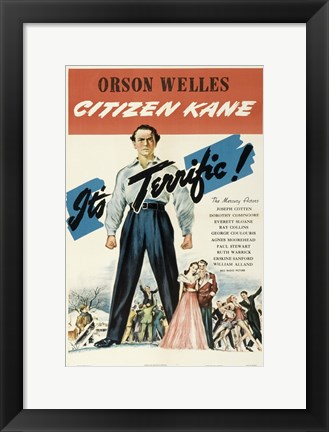 Framed Citizen Kane It's Terrific! Print