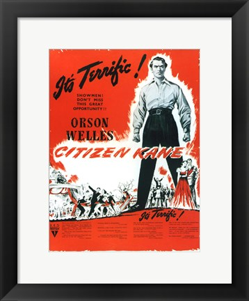 Framed Citizen Kane B&W with Red Print