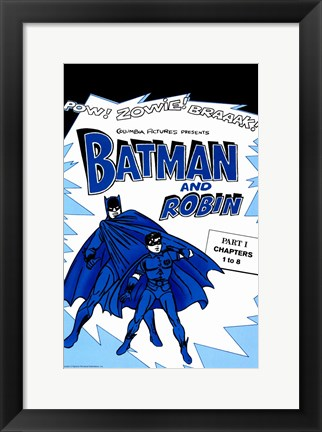 Framed Batman and Robin Blue Print