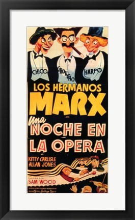 Framed Night At The Opera (spanish) Print