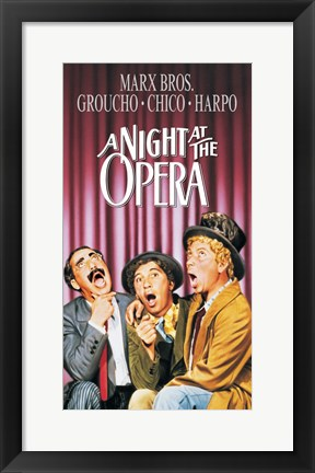 Framed Night At The Opera Color Print