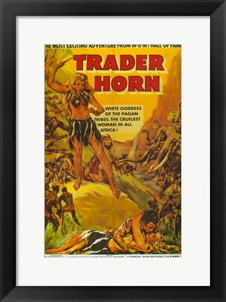 Framed Trader Horn By W.S. Van Dyke Print