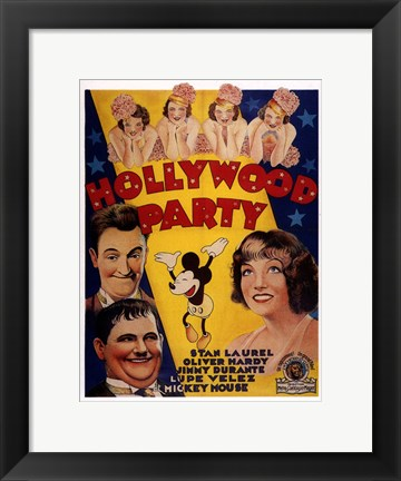 Framed Hollywood Party Print