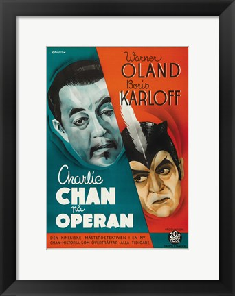 Framed Charlie Chan at the Opera Swedish Print