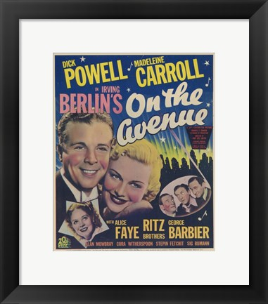 Framed On the Avenue Dick Powell Print