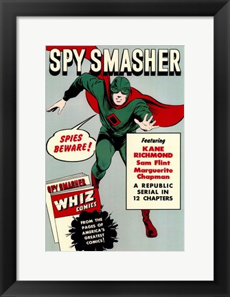 Framed Spy Smasher - Spies beware Print