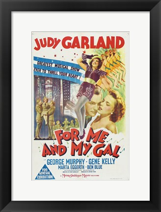 Framed For Me and My Gal - Judy Garland Print
