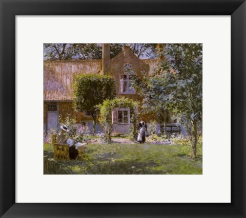 Framed Unpretentious Garden Print