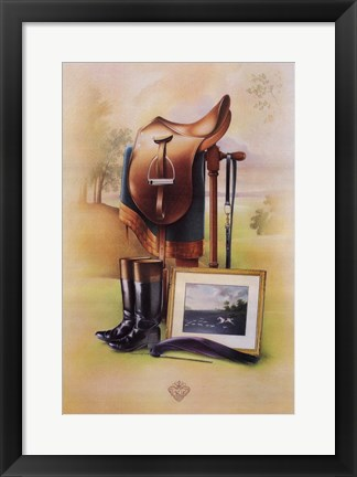 Framed Equestrian Illustration II Print
