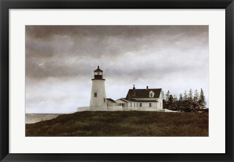 Framed Evening at Pemaquid Print