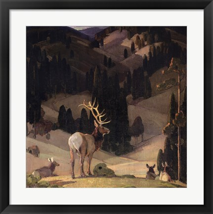 Framed October in the Mountains Print