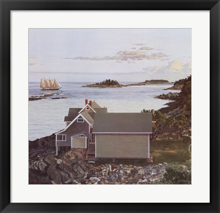 Framed John's Bay, 1984 Print
