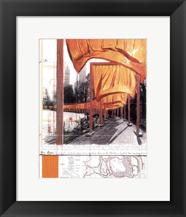 Framed Gates, Project for Central Park, New York City Print