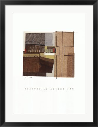 Framed Syncopated Rhythm Two Print