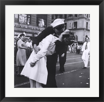 Framed Kissing the War Goodbye, VJ Day, Times Square, August 14, 1945 Print