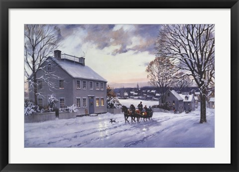 Framed Sleigh Ride Print