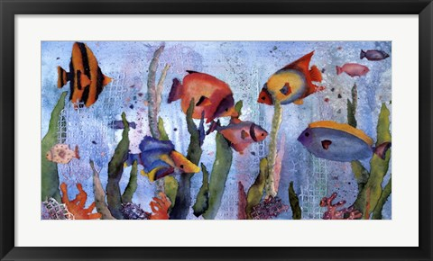 Framed Under the Sea Print