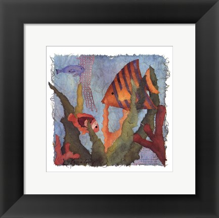 Framed Tropical Fish I Print