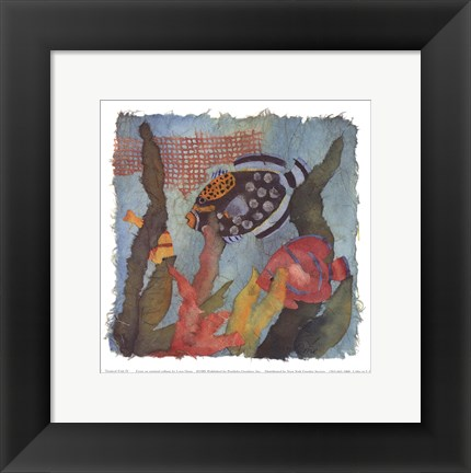 Framed Tropical Fish IV Print