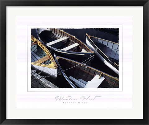 Framed Wooden Fleet Print