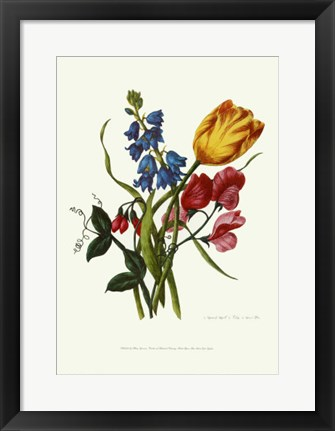 Framed Bouquet with Tulipa Gesneriana Print