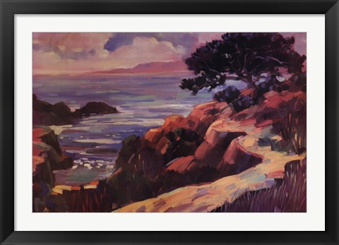 Framed Path by the Sea Print