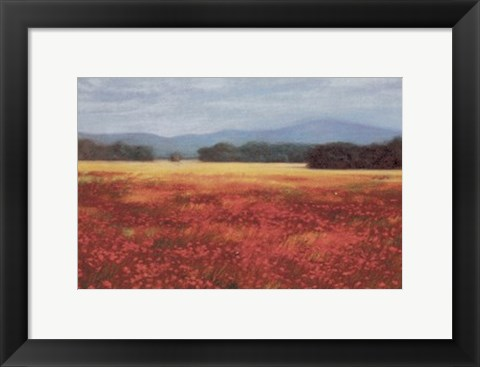 Framed French Poppy Fields Print
