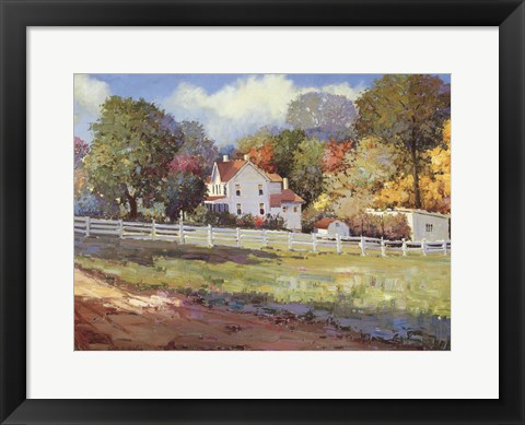Framed Early Autumn Farm Print