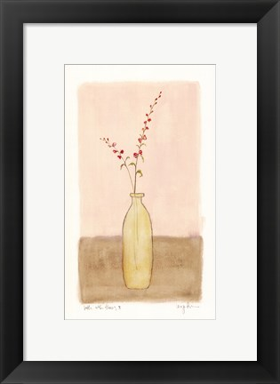 Framed Bottle With Flowers ll Print