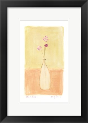 Framed Bottle With Flowers l Print