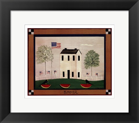 Framed Summer In The Country Print