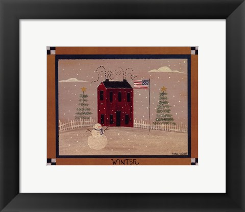 Framed Winter In The Country Print