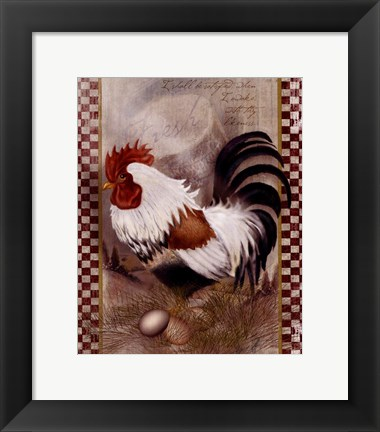 Framed Coat Of Many Colors Rooster Print