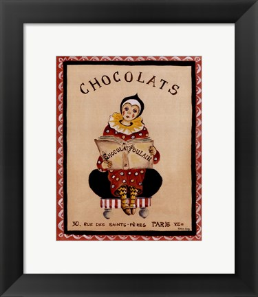 Framed Chocolats Print