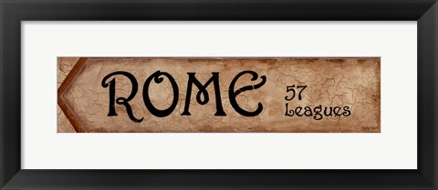 Framed Rome - 57 Leagues Print