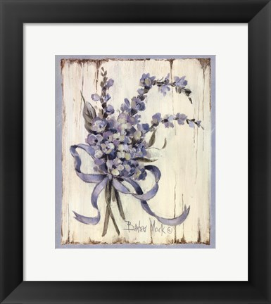 Framed Summer Bouquet Of Blues I Print