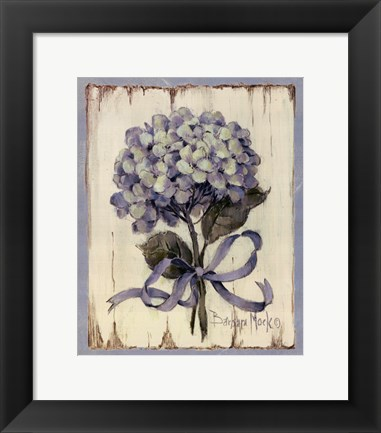 Framed Summer Bouquet Of Blues II Print
