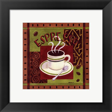 Framed Cafe Exotica I Print