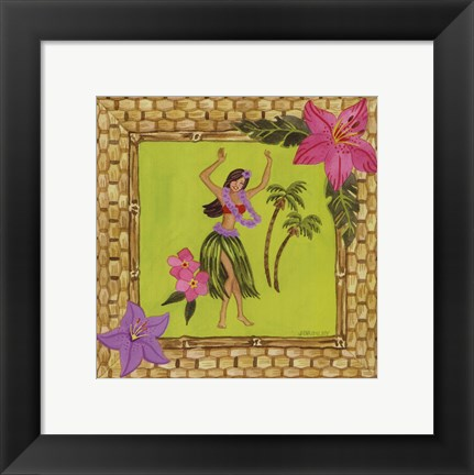 Framed Tiki Girl I Print