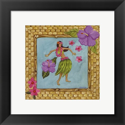 Framed Tiki Girl III Print