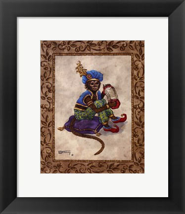 Framed Monkey With Concertina Print