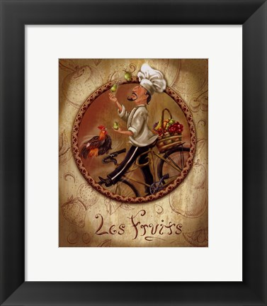 Framed Les Fruits Print