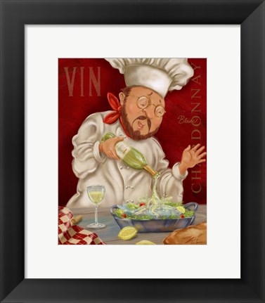 Framed Wine Chef II Print