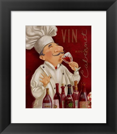 Framed Wine Chef III Print