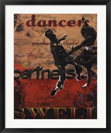 Framed Dancers Make Their Partners Look Swell Print